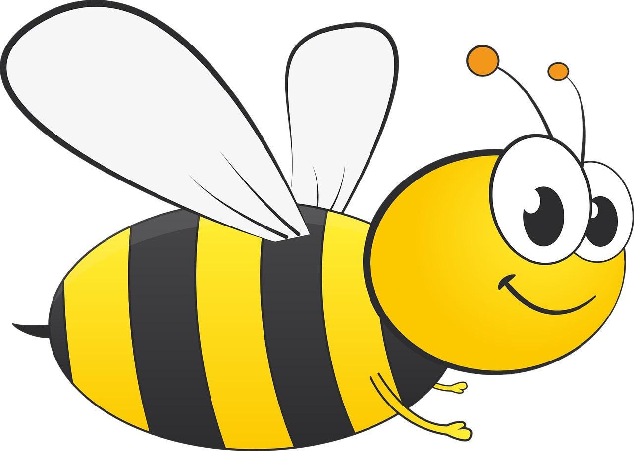 Картинки пчелки для детей нарисованные цветные красивые, смешной стрелок